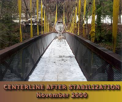 Stabilized bridge after early season snowfall.
